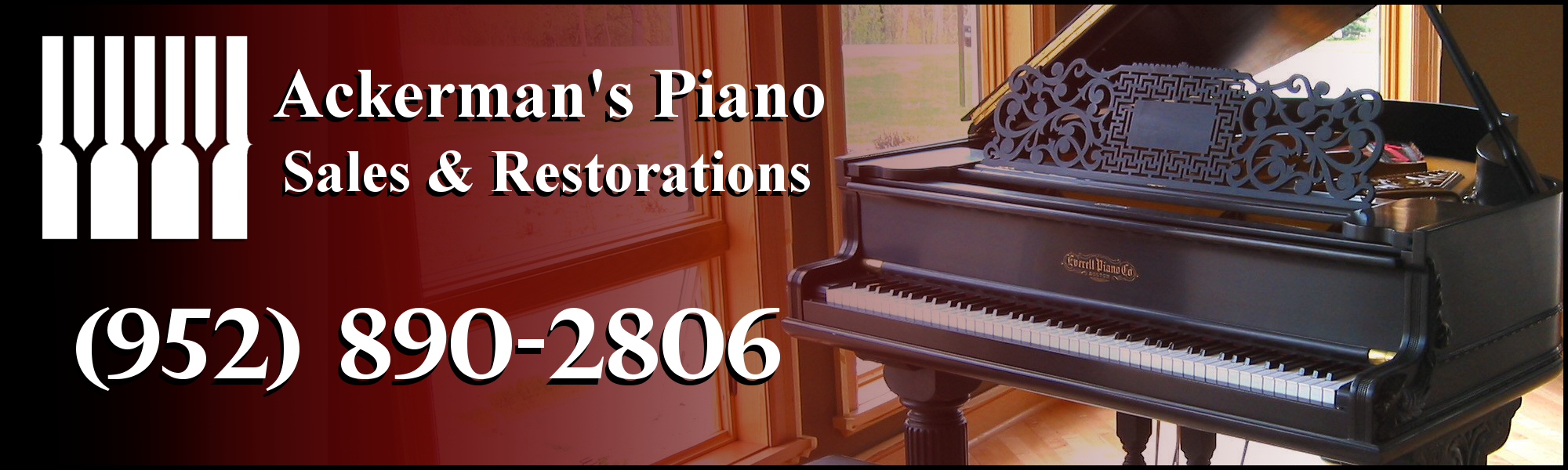 Ackerman's Piano Sales & Restorations New Pianos for Sale page.
