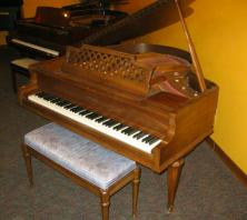 Kimball baby grand piano with bench